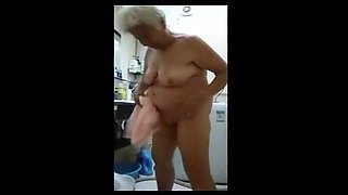 Blonde Asian Granny
