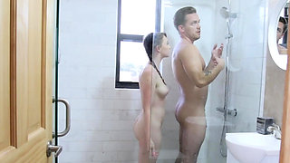 Athena Rayne takes a bath with her step brother