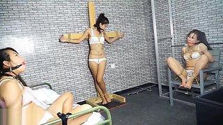 China bondage - three Chinese girls