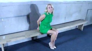 Green dress girl arrest