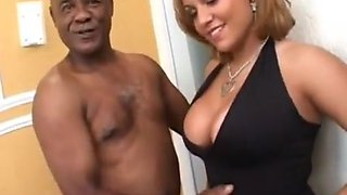 Curvy blonde invites BBC in her pussy and anus