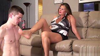 Fabulous sex video Feet incredible , check it