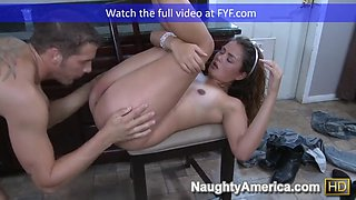 Naughty america allie haze fucking in the kitchen with her n