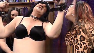FemDom Mistress Dahlia Snow Tickles Crossdresser Threesome