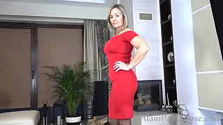 Ajx alain.milf in red and pantyhose
