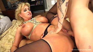 Wet Hot American Stepmom: Milf/Cougar Gangbanged By Stepson & Friends - HardcoreGangbang