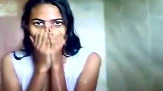 Indian school Gal pounding in Public Douche