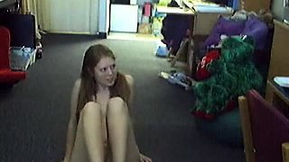 Young woman showing body on cam..