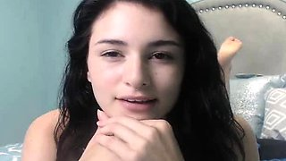 Alluring Beautiful Teen Rubs her Tight Pussy on Cam
