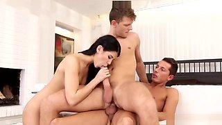 Lustful Bisexual Threesome Fucking