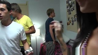 teen college bitches fucking then dude in the dorm