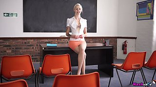 I bet this nasty teacher knows how to make her students work much harder