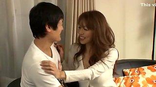 Amazing Japanese girl Sanae Asoh in Incredible Blowjob/Fera, Stockings/Pansuto JAV movie