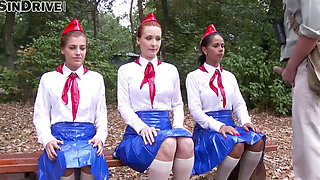 pissing pioneer girls