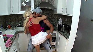 Stefano fucks his maid Alexa in the kitchen