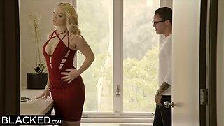 Blacked curvy blonde cheats about boyfriend with bbc