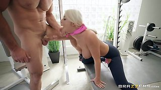 London River & Charles Dera in Bench Press My Biddy - BRAZZERS