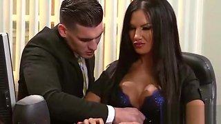 Busty Office Girl (elicia solis) Bang Hard Style At Work clip-14