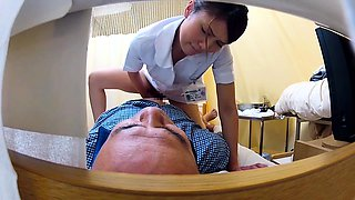Insatiable Japanese nurse satisfies her desire for cock