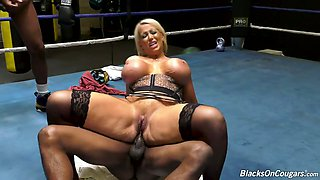 Giant breasted MILF Alura Jenson is ready for interracial MMMF foursome