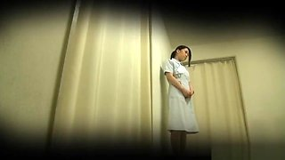 Sizzling hot Japanese nurse gets her twat screwed