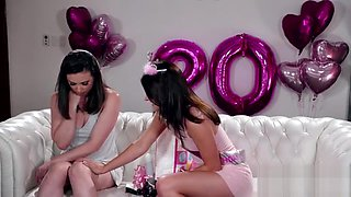 Lovely Casey banged by the birthday girl