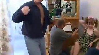 Drunken Russian gangbang