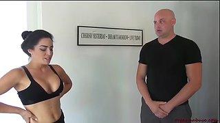 Yoga lesson orgasm abuse cleo