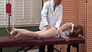 CMNF - Spanked by the doctor - Ass up!