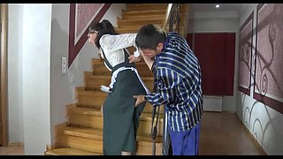Maid Sodomized On The Stairs