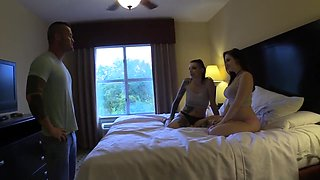 Little Sister Slut Training Threesome Part 1