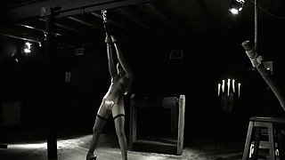 Bondage girl merciless punishment and bondage blowjob