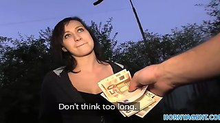 Hornyagent hd bus stop girl loves riding my big cock