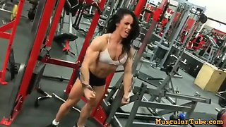 Lauren martin fbb at the gym workout