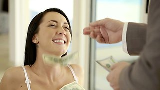 Pretty Babysitter Gets Paid for Anal
