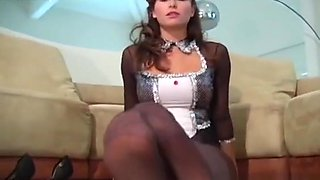 Playgirl In Panties Jerks Her Sexy Feet And Spreads Thighs