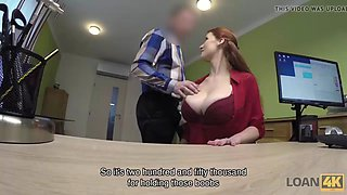 Loan4k. redhaired beauty has dirty sex for cash for pet