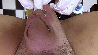 Super nurse, CBT, sewing, needle, fisting, straight video