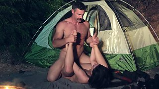 Camping trip leads to fuck with her step daddy