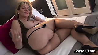 Unfaithful british milf lady sonia reveals her massive natur