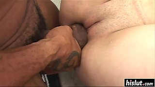 Big black cock makes a girl happy