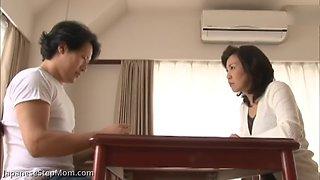 Horny japanes step mom catches step son masterbating