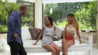 Anal threesome with babes in high heels Shona River and Lilu Moon