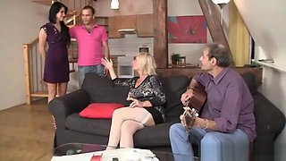 Sweetie Has Lured In 3some By Her BFs Parents