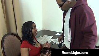 Big black cock teacher rome major fucks ebony mommy!