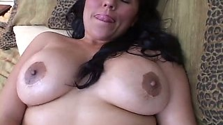 Boobalicious Mexican hottie masturbating passionately in solo video