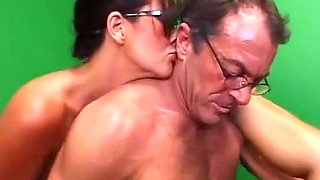 mom and daughter fuck older guy