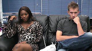 Funny squirting scene with ebony Jasmine Webb
