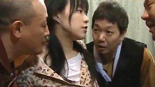 Asian Babe in Gangbang sex part1