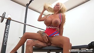 Blonde huge titted milf fucked hard and covered in cum